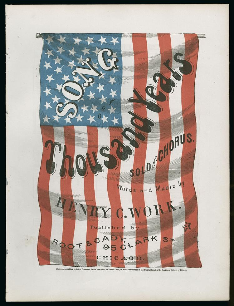 The Chicago firm Root and Cady published more than 100 songs during the Civil War. The sheet music typically was issued with evocative cover artwork.