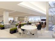 The cafeteria within Liberty Mutual's new regional campus in Plano.