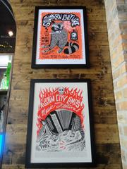 Art by Heights-based artist Carlos Hernandez is throughout City Oven.