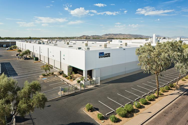This 110,000-square-foot warehouse near Alameda and Hardy drives was part of the sale.