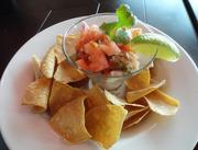 Salmon and shrimp ceviche at City Oven