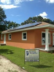 The Habitat for Humanity of Pinellas County home, in Pinellas Park, features a 5.62 kilowatt solar power system donated and installed by Solar Energy Management.