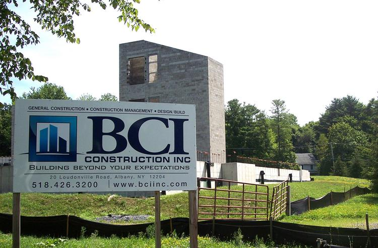 Construction has resumed at BCI Construction's Loudonville condo project