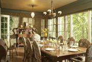 The 100,000-square-foot home's dining room