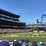 Up close at the Memorial Day celebration with the Mariners
