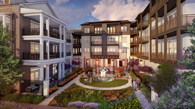 Another look at The Maxwell, an apartment community that began construction in Frisco.