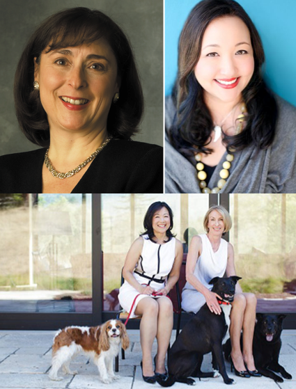 Entrepreneur and venture capitalist Cindy Padnos (upper left) startup co-founder and president Stefania Pomponi (upper right) and startup co-founders Patti Lee-Hoffman (lower left) and Gayle Haworth (lower right) weigh in on the gender gap in the Silicon Valley VC and startup world.