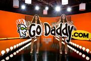 A 2011 Super Bowl commercial featuring Danica Patrick (left) and Jillian Michaels. GoDaddy Superbowl ads can be seen here: http://videos.godaddy.com/super-bowl-commercials.aspx
