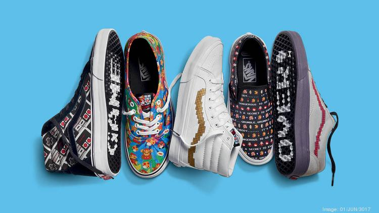 5ca7a6bc942 Vans teams with Nintendo on retro video game-inspired shoes - L.A. Biz