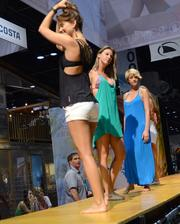 The expo serves as a preview for seasonal fashion lines for nearly every surf apparel company.