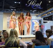 Buyers were also lined up to preview fashions by the Heat Swimsuit Co.
