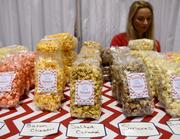 Brandi McCovney of Candy's Popcorn company was on hand to offer her healthy, go anywhere snack option to the surf crowd. There's more to Surf Expo business than boards and clothes.