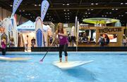 SUP demonstrations were even held in a pool at the exhibit hall.