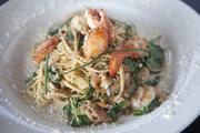 From the menu at the Yard House is the Lobster Garlic Noodles