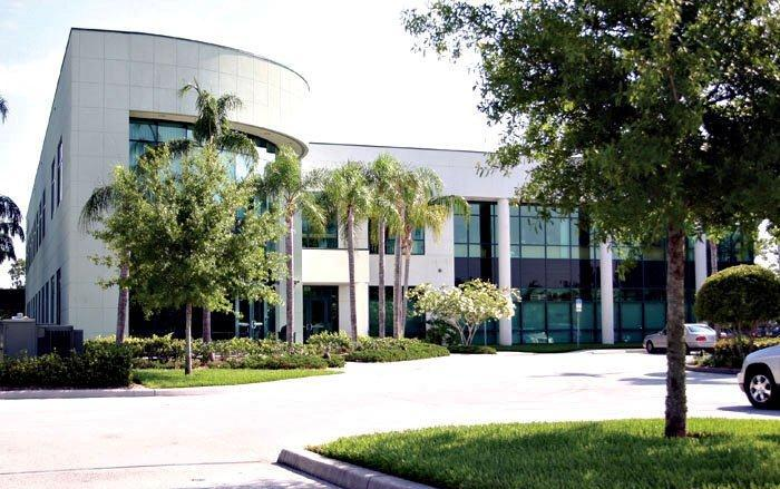 Synergy Health building on Race Track Road near Oldsmar. The company is moving to downtown Tampa.
