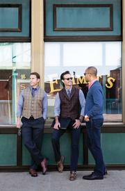 Allen Edmonds Shoe Corp. is selling high-end clothing including sport coats, dress shirts, vests, sweaters and pants on its website and in Allen Edmonds stores.
