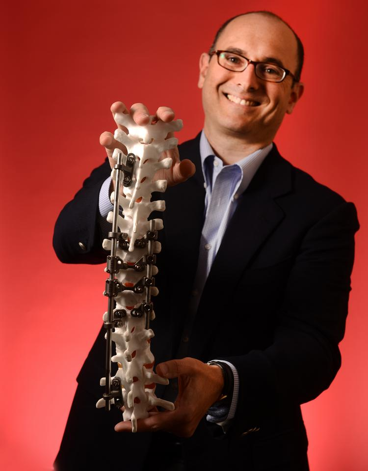 Danny Sachs' Kspine is developing technology to treat severe scoliosis. The inspiration for the device came from orthodontics.