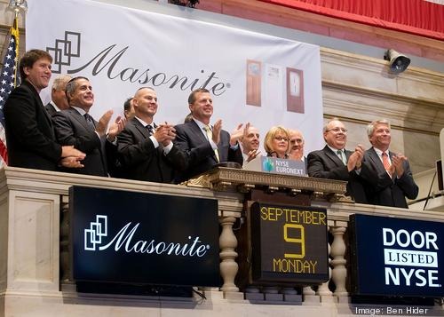 Masonite CEO Fred Lynch rings NYSE opening bell - T&a Bay Business Journal  sc 1 st  The Business Journals & Masonite CEO Fred Lynch rings NYSE opening bell - Tampa Bay ... pezcame.com