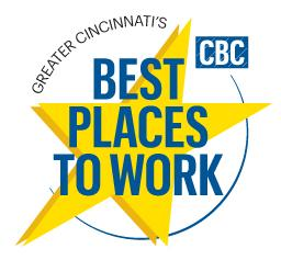 Cincinnati's best places to work will be recognized by the Business Courier at an awards pep rally on Nov. 14.