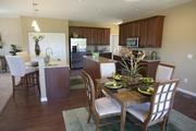 The kitchen and dining area of one of the Maronda Homes in Wyandot Woods.