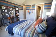 A sports-themed bedroom at M/I Homes' Avalon.