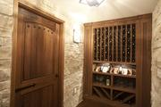 Wine is stored in a separate room.