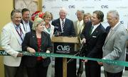Airport officials and local dignitaries were on hand for the ribbon-cutting ceremony.