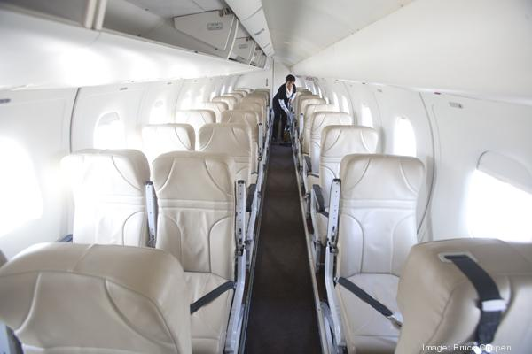 Ultimate Air Shuttle's first flight from CVG left the airport at 10:45 a.m. today.