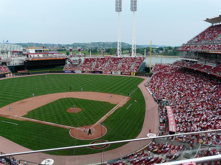 The Cubs play in Great American Ballpark the next few days, and -- if you can make it there -- tickets are pretty cheap, thanks to a Groupon deal.