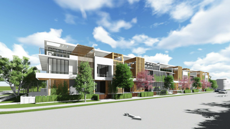 Shoma group proposes townhouse project in miami beach for Beach townhouse designs