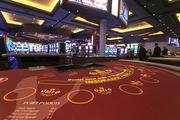 Crews deliver the first blackjack tables to the Maryland Live casino on Wednesday morning. Above, a blackjack table.