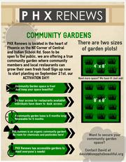 The benefits of community gardens.