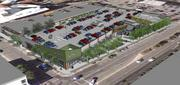 The Shops at Broadway will feature rooftop parking along with a public plaza and garden.