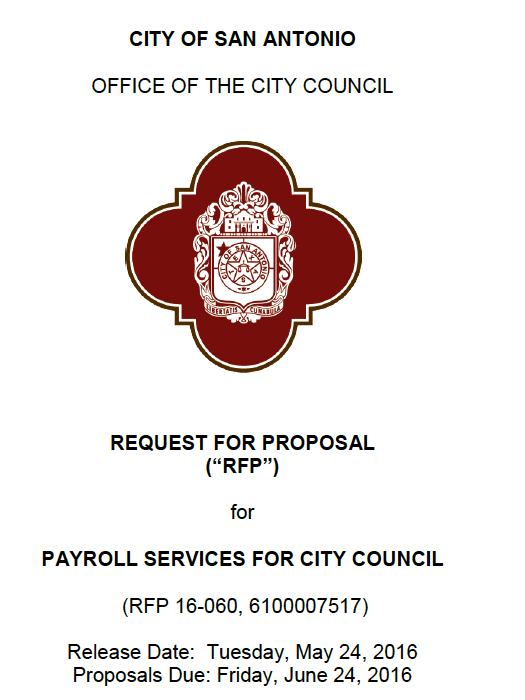 City Of San Antonio Opens Bids For Payroll Services