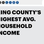 Data dive: King County's highest earners don't live in Seattle
