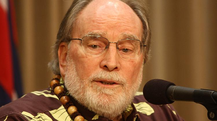 """Gov. Neil Abercrombie, seen in this 2013 file photo, said Hawaii's finances are """"solid and sound,"""" despite the Council on Revenues' move to downgrade its forecast to zero percent growth for the current fiscal year, from a forecast of 3.3 percent growth in January."""