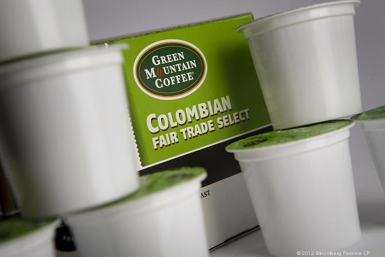Coca-Cola is acquiring a 10 percent stake in Green Mountain Coffee Roasters Inc., as the two companies gear up to introduce a new single-cup cold-beverage brewing system this year. Pictured here are single servings of coffee made by Green Mountain of Waterbury, Vermont.