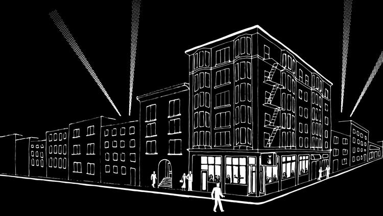 """Located at the corner of Eddy St. and Leavenworth, the 4,200-square-foot, two-story Black Cat will take over the full ground floor corner of the Verona Hotel, which was previously home to multiple restaurants, and will serve """"modern American supper club cuisine"""" by chef Ryan Cantwell."""