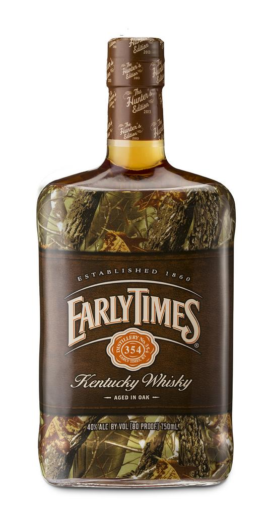 The special Early Times Hunters Edition bottle is set to hit shelves nationwide this month.
