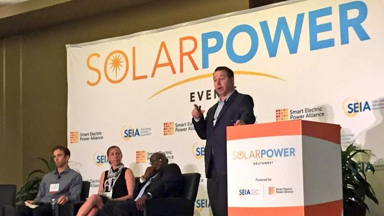 JW Postal with Clean Energy Collective leads a discussion about the rise of community solar farms.