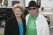 Musician Neil Young, left, and Sen. Debbie Stabenow, D-Mich.