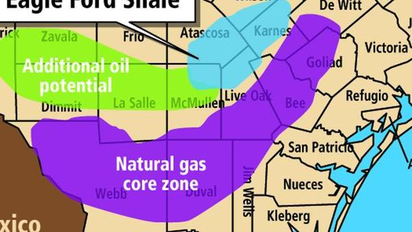 BHP Billiton currently produces 150,000 barrels of oil equivalent daily in the Eagle Ford Shale.