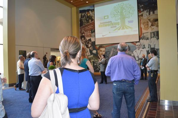 Our last SBO networking event, in July, attracted throngs of environmental business champions.