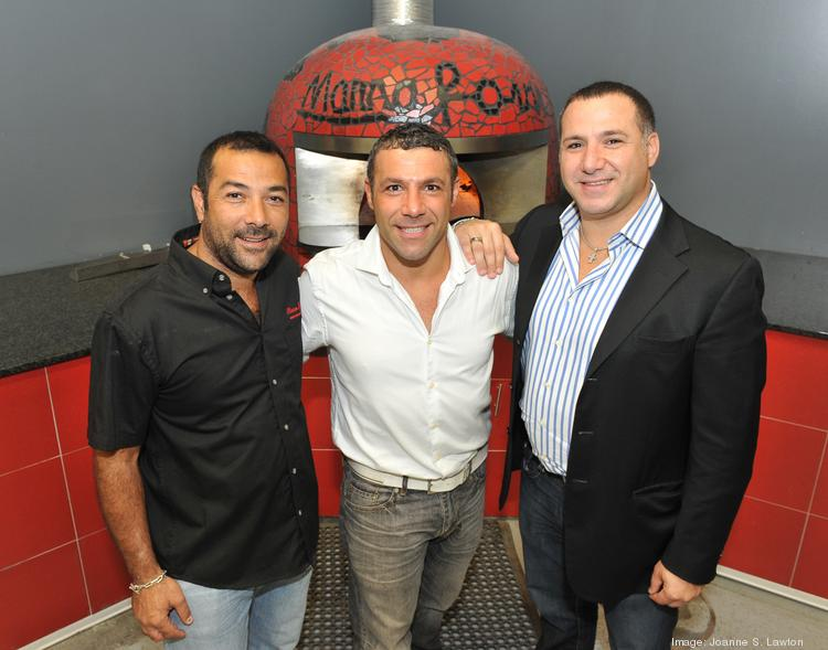 Marra Forni, a Beltsville-based maker of wood-fired brick pizza ovens, is led by Director of Operations Enzo Marra, left, Vice President Emiliano Marra and President and CEO Francesco Marra.