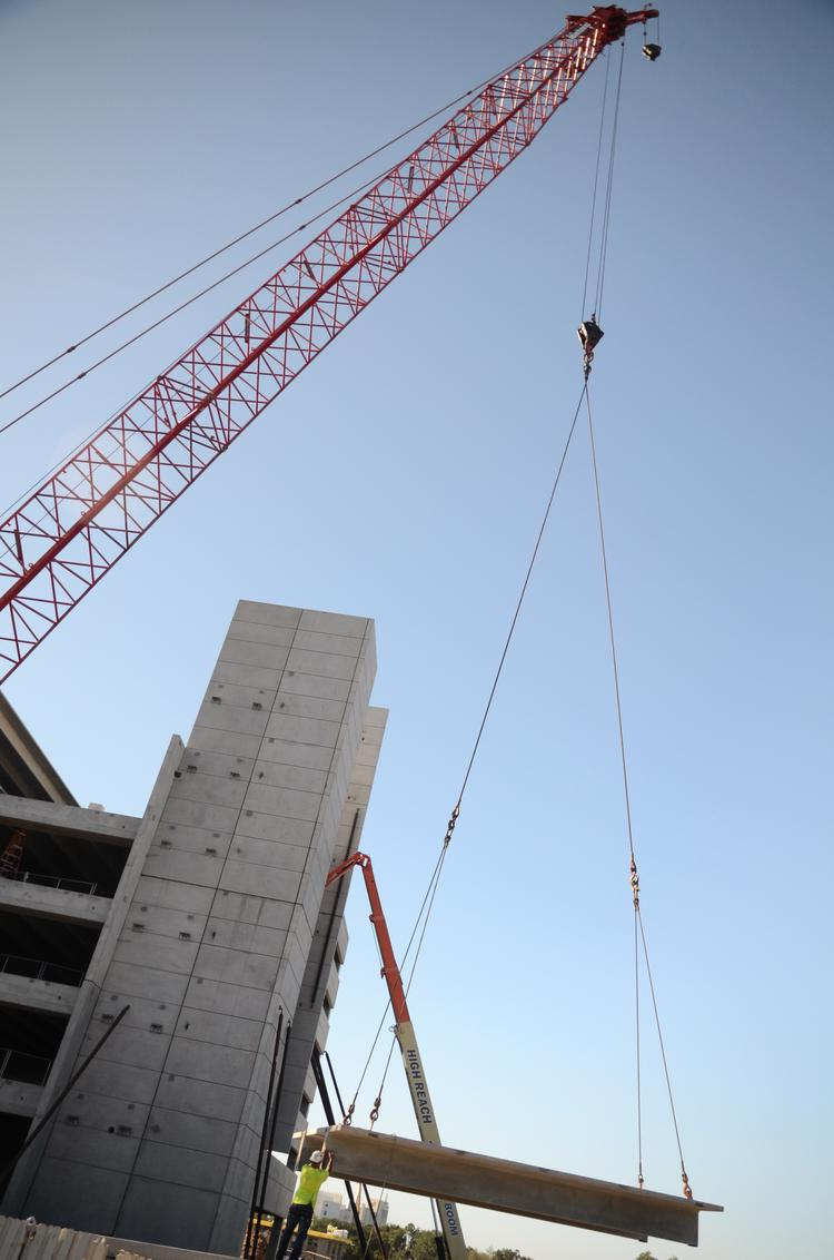 Permits for commercial construction projects in the Orlando area nearly doubled in August, McGraw Hill Construction reports.