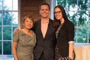 From left, S&R Foundation President and CEO Dr. Sachiko Kuno, Patrick Dowd of the Millennial Trains Project and Meaghan Rose of RocksBox.
