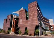 Another shot of the Health Sciences Education Building on the Phoenix Biomedical Campus.