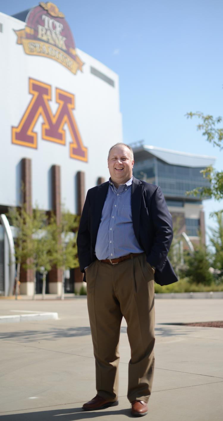 Joel Moryn, president and CEO of Parsons, at TCF Stadium.
