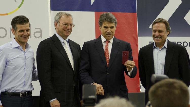 Texas Gov. Rick Perry on a trip to the Dallas-Fort Worth area. Perry was indicted on charges he abused the powers of his office.