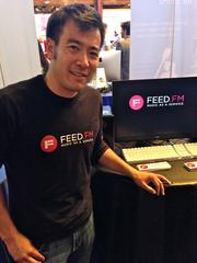 Feed.fm CEO Jeff Yasuda says he can take the litigation pain out of providing curated music on a website. The San Francisco startup pitched at TechCrunch Disrupt on Tuesday.